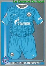137 TEAM SHIRT FK.ZENIT SANKT PETERSBURG STICKER PANINI RUSSIA LEAGUE 2012
