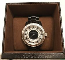 Michael Kors Baguette Crystal Black Ceramic Women's Watch Swarovski MK5362