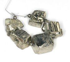 10X9-14X12MM  IRON PYRITE GEMSTONE GRADUATED RUGGED NUGGET CUBE LOOSE BEADS 3""