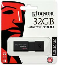 Kingston 32GB 32G DataTraveler 100 G3 USB 3.0 Flash Pen Drive DT100G3/32GB Retai