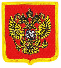 FLAG PATCH PATCHES RUSSIA RUSSIAN coat of arms IRON ON EMBROIDERED EMBLEM