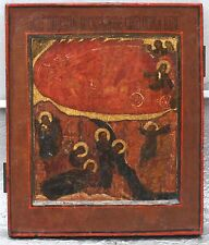 17/18 C. ANTIQUE RUSSIAN ICON THE FIERY ASCENSION OF ELIJAH THE PROPHET