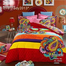 Shinning Dreams Queen Size Bed Quilt/Doona/Duvet Cover Set 100%Cotton 4PCS New