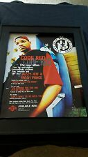 Dj Jazzy Jeff and The Fresh Prince Code Red Rare Original Promo Poster Ad Framed