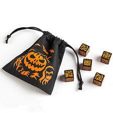 Halloween Dice Set - 5D6 + Dice Bag