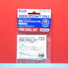 Tamiya #74090 Fine Drill Bit (0.2mm x 2pcs) [Craft Tools]