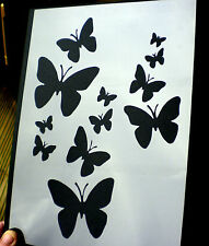 high detail airbrush stencil butterflies six FREE UK  POSTAGE