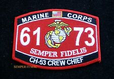 MOS 6173 CH-53 CREW CHIEF HAT PATCH US MARINES VETERAN GIFT PN UP MAW MAG GIFT