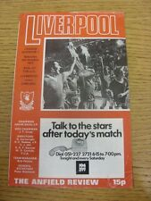 08/10/1977 Liverpool v Chelsea  (Creased, Marked, Small Nicks/Rips To Edges).  T