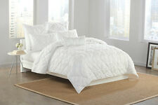 DKNY Diamond Tuck White European PILLOW SHAM