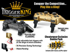 PS3 Rapid Fire Trigger Cap Extender Attachment COMBO PACK - Limited Edition -