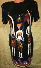 Showgirl Drag Queen MovieStar Evening Cabaret Girly Sequin Gown Dress XL