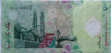 RM5 Zeti sign Polymer Replacement Note ZA 0034629 (folded)