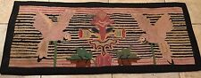 Hooked Rug Antique Primitive Parrots Birds Nice Greenfell Canada