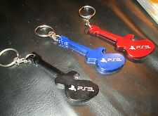 Red, Black, and Blue PS3 Guitar Keychains-(NEW, FREE S/H in USA) PLAYSTATION 3
