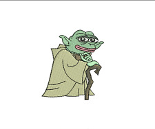 YODA PEPE Iron-on Patch the Frog Sad Angry Smug MAGA Bad Feels Good Man Star War