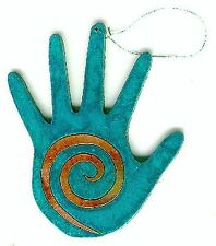 COPPERCUTTS Hand w/ Spiral Ornament SouthWest Copper w/ Choice of Primary Color!