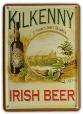 KILKENNY IRISH BEER Small Vintage Metal Tin Pub Sign