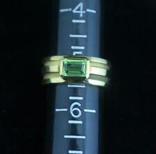 Tiffany & Co. 18K Yellow Gold Atlas Emerald Cut Peridot Ring 5 1/2