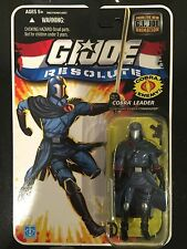 GI JOE COBRA 25TH WAVE 13 RESOLUTE COBRA COMMANDER SEALED NEW ON CARD MOC