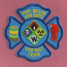 FORT BRAGG ARMY BASE NORTH CAROLINA HAZ MAT TEAM FIRE PATCH