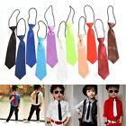 Boy Tie Kids Baby School Boy Wedding Necktie Neck Tie Elastic Solid 11 Colors AT