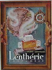 PUBLICITE LENTHERIC PARFUMEUR SHANGHAI TABLEAU MAPPEMONDE DE 1944 FRENCH AD PUB