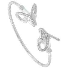"""7"""" Sterling Silver West Indies Ram Bangle Bracelet"""