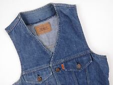 R144 LEVI STRAUSS WAISTCOAT VEST ORIGINAL PREMIUM DENIM SLIM VINTAGE LEVIS sizeS