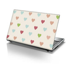 """15.6"""" TaylorHe Laptop Vinyl Skin Sticker Decal Protection Cover Hearts 2174"""