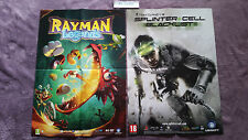 POSTER RAYMAN LEGENDS NEUF + POSTER TOM CLANCY'S SPLINTER CELL BLACKLIST NEUF