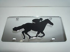 Jockey, Horse Racing, Polo  License Plate Colors - Silver/Black Brand New