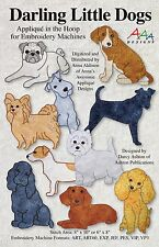 DARLING LITTLE DOGS MACHINE EMBROIDERY USB, Designs From Anna's Awesome Applique