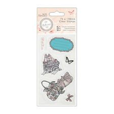 Papermania Bellisima 6 pc Clear rubber stamp set Shoes & Bags Butterfly bow