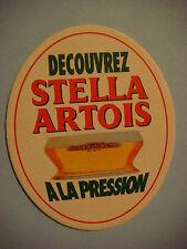 Beer Coastern    STELLA ARTOIS A La Pression ~ See STORE for 1000s More Coasters