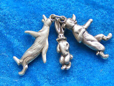RARE VINTAGE STERLING SILVER CHARM PIP SQUEEK & WILFRED 1950'S