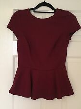New Look Peplum Top - Red - Size 10 - Used - Good Condition