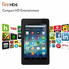 Amazon Kindle Fire HD 6 Black, 6 inch HD Display Wi-Fi 8 GB with Special Offers