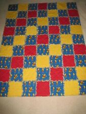 "HANDMADE  THE SIMPSONS BART  RAG  QUILT   50"" X 66"""