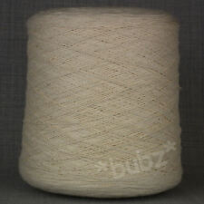 ECRU UNDYED 3 PLY PURE COTTON YARN - LARGE 750g CONE 15 BALL KNIT WEAVE CROCHET