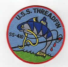 USS Threadfin SS 410 - Fish w/ Needle BC Patch Cat No B696