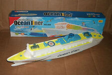 "1/500 Scale 19"" Ocean Liner Cruise Ship Plastic Model - Lights & Sounds Toy Boat"