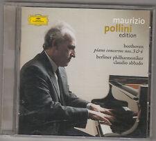 MAURIZIO POLLINI / CLAUDIO ABBADO - beethoven piano concertos 3 & 4 CD