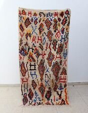 100% Authentic Azilal Moroccan rug Wool 7'4 x 3'8 Beni Ourain