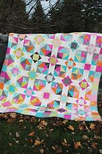 Patchwork QUILT PATTERN Layer Cake or Fat Quarters, Baby, lap or Twin size