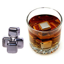 Stainless Steel Whiskey Stones Box set of 8 Chilling Cubes with Tong