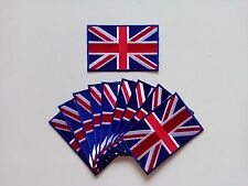 """10 UK United Kingdom Flag Embroidered Patches 3.5""""x2.25"""""""