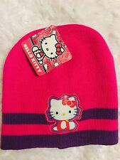 Girl's Hello Kitty Knit Beanie Hat Cap One Size Fits Most Hot Pink Sanrio