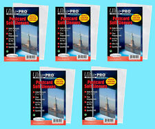 500 ULTRA PRO POSTCARD SOFT SLEEVES 5 Packs Archival Safe Protective Coin Stamp