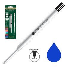 Pk/2 Monteverde Soft Roll Ballpoint Refills to fit Parker Pens, Blue Medium